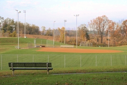 Civil Designed and Landscaped Recreational Park and Ball Field in Carroll County Maryland