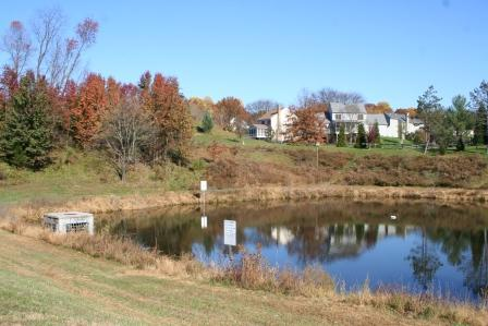 Development Stormwater Management Wet Pond and Riser in Montgomery County Maryland